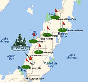 There Are Four Golf Courses In The Egg Harbor Area Alone. The Alpine Resort  Golf Club Is 3/4 Mile Southwest Of Egg Harbor On Door County G, And Then,  ...